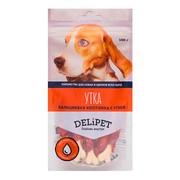DeliPet лакомство для собак кальциевая косточка с уткой