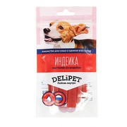 DeliPet лакомство для собак пастилки из индейки