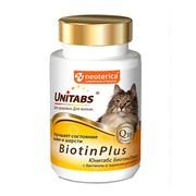 Unitabs BiotinPlus с Q10 витамины для кошек с биотином и таурином