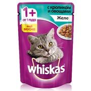 Whiskas консервы желе кролик с овощами