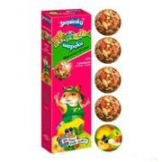 ЗооМир Зверюшки лакомство шарики для хомяков фрукты + ягоды