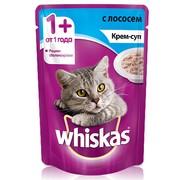 Whiskas консервы крем-суп с лососем