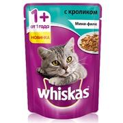 Whiskas консервы мини-филе кролик желе