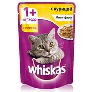 Whiskas консервы мини-филе курица желе