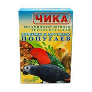 Чика корм для средних и крупных попугаев