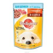 Pedigree консервы для щенков говядина в соусе