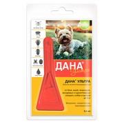 Дана Ультра капли инсектоакарицидные на холку для щенков и собак до 5кг