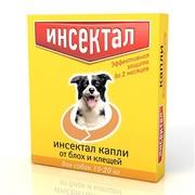 Инсектал капли от клещей и блох для собак 10-20кг