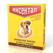 Инсектал капли от клещей и блох для собак 20-40кг