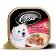 Консервы Cesar бефстроганов из говядины с сыром и укропом