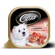 Консервы Cesar патэ из говядины в овощном соусе