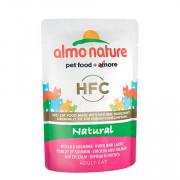 ALMO NATURE CLASSIC консервы для кошек с курицей и лососем