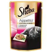 Консервы Sheba Appetito говядина кролик желе