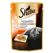 Консервы Sheba Appetito телятина язык желе