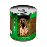 Dog Lunch консервы для собак говядина с овощами