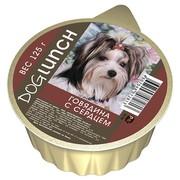 Dog Lunch консервы для собак крем-суфле говядина с сердцем