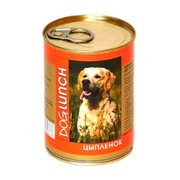Dog Lunch консервы для собак цыпленок в желе