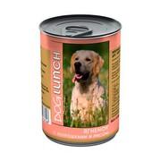 Dog Lunch консервы для собак ягненок с потрошками и рисом в желе
