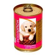 Dog Lunch консервы для щенков говядина в желе