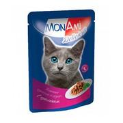 MonAmi пауч для кошек кусочки в соусе кролик, 24шт.