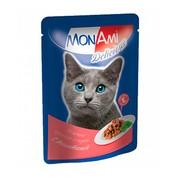 MonAmi пауч для кошек кусочки в соусе телятина