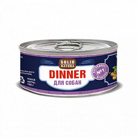 Solid Natura Dinner консервированный корм для собак ягненок