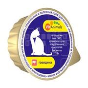 VitAnimals консервы для кошек говядина