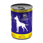 VitAnimals консервы для собак говядина с печенью