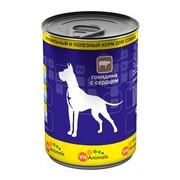 VitAnimals консервы для собак говядина с сердцем