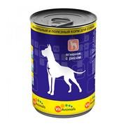VitAnimals консервы для собак ягненок с рисом