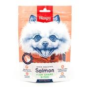 Wanpy Dog лакомство для собак лакомые кусочки из нежного лосося в форме рыбок