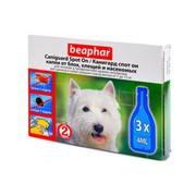 Beaphar капли Канигард для собак и щенков средних пород, 3 пипетки