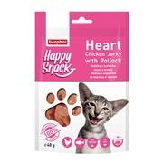 Beaphar лакомство для кошек нежные сердечки из курицы и трески Happy Snack