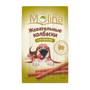Molina лакомство для собак жевательные колбаски с ягненком