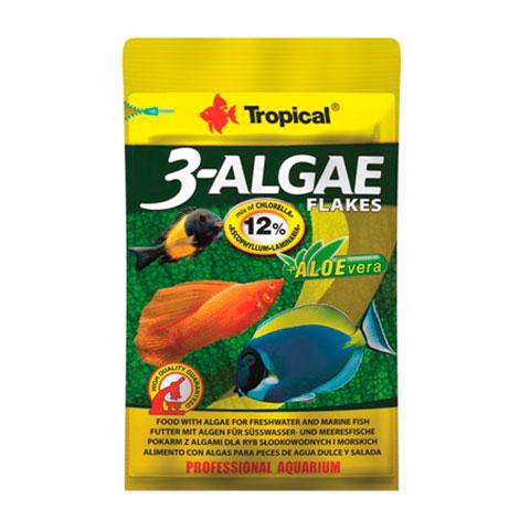 Tropical 3-Algae Flakes корм для пресноводных и морских рыб с водорослями