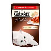 Консервы Gourmet A la carte пауч для кошек говядина овощи в подливе