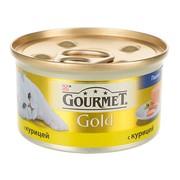 Консервы Gourmet Gold для кошек паштет курица