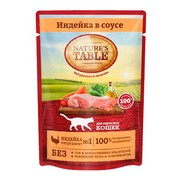 NATURE'S TABLE пауч индейка в соусе