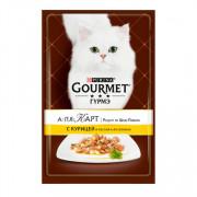 Консервы Gourmet A la carte пауч для кошек курица макароны в подливе
