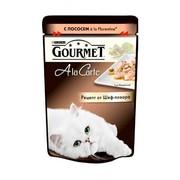 Консервы Gourmet A la carte пауч для кошек лосось овощи в подливе