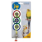 J.W. Игрушка для птиц - 3 зеркальца с колокольчиком, пластик, Triple Mirror With Bell Toy for birds