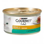 Консервы Gourmet Gold Террин кусочки в паштете для кошек с кроликом по-французски