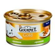 Консервы Gourmet Gold для кошек взрослых паштет кролик