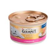 Консервы Gourmet Gold паштет для кошек с говядиной
