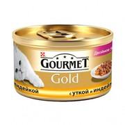 Консервы Gourmet Gold двойное удовольствие для кошек утка индейка