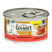 Консервы Gourmet Gold Нежные биточки для кошек говядина томат
