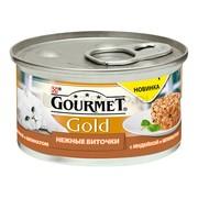 Консервы Gourmet Gold Нежные биточки для кошек индейка шпинат