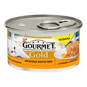 Консервы Gourmet Gold Нежные биточки для кошек курица морковь