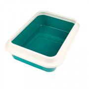 Сибирская Кошка туалет для кошек глубокий, с бортиком, 37х10х27.5см