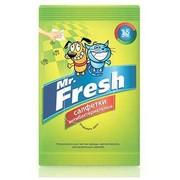 Mr. Fresh, салфетки влажные для собак и кошек, антибактериальные, 15шт